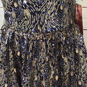 Emerald Sundae Dresses - SOLD. Emerald Sundae Navy Blue Gold Sequins